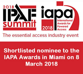 Shortlisted nominee to the IAPA Awards in Miami on 8 March 2018